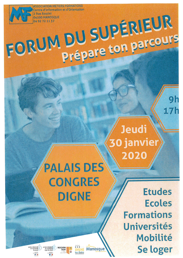 L'IRTS au Forum du Supérieur à Digne les Bains @ Palais des Congrès