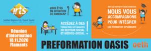 Réunion d'info OASIS en visio-conférence @ IRTS site des Flamants